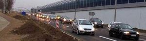 Trasa Toruńska: nowy wiadukt zamknięty przez ekrany