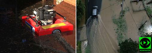 Wiatr łamał drzewa, woda zalewała budynki. Setki interwencji po gwałtownych burzach