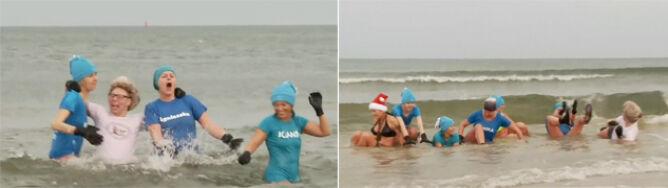 """""""Jest za ciepło"""". Morsy w poświątecznej kąpieli w Bałtyku"""