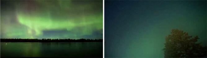 Zielone widma nad północnym horyzontem