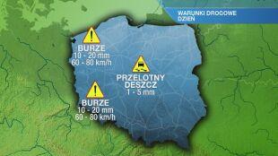 Warunki drogowe we wtorek 20.04